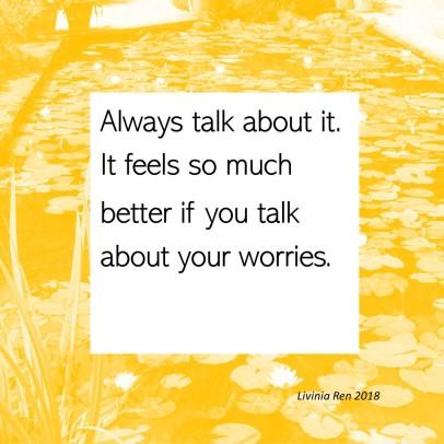 always talk about it